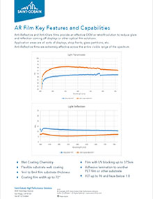 Anti-Reflective Film Key Features and Capabilities